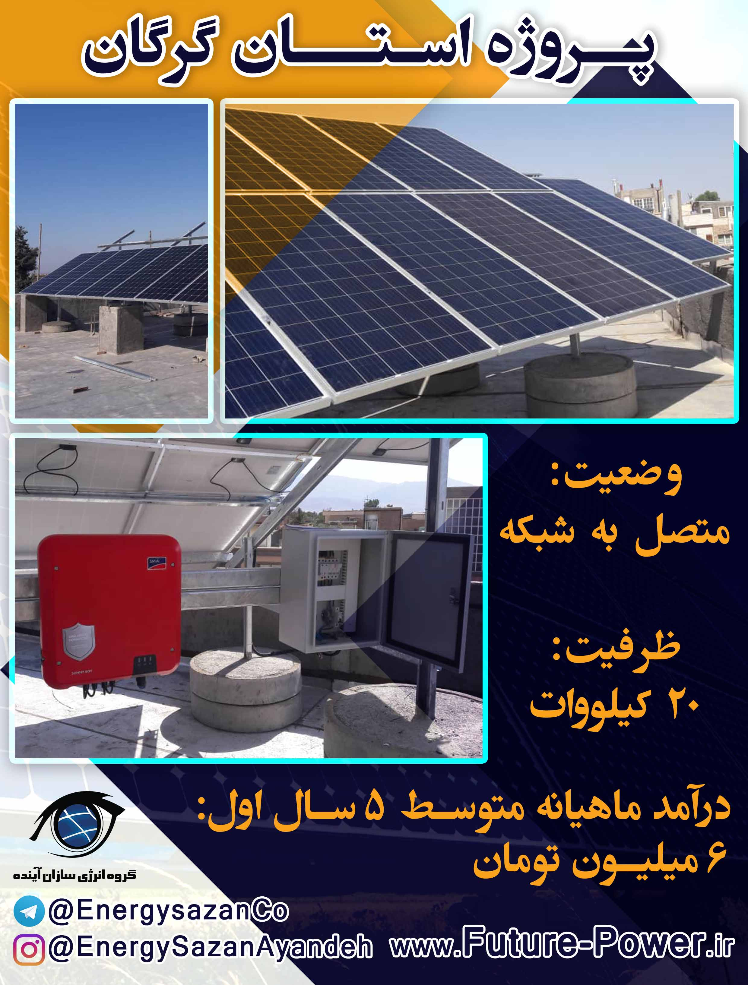 پروژه 20 کیلوواتی استان گرگان
